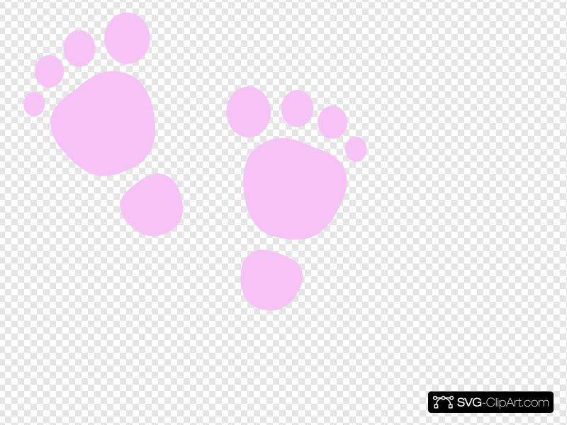 Baby Footprint Clip art, Icon and SVG.
