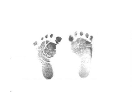 free baby brown foot prints clipart.