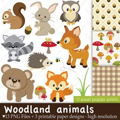 Free Forest Animal Clip Art Graphics.