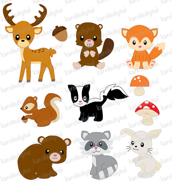 52+ Forest Animals Clipart.