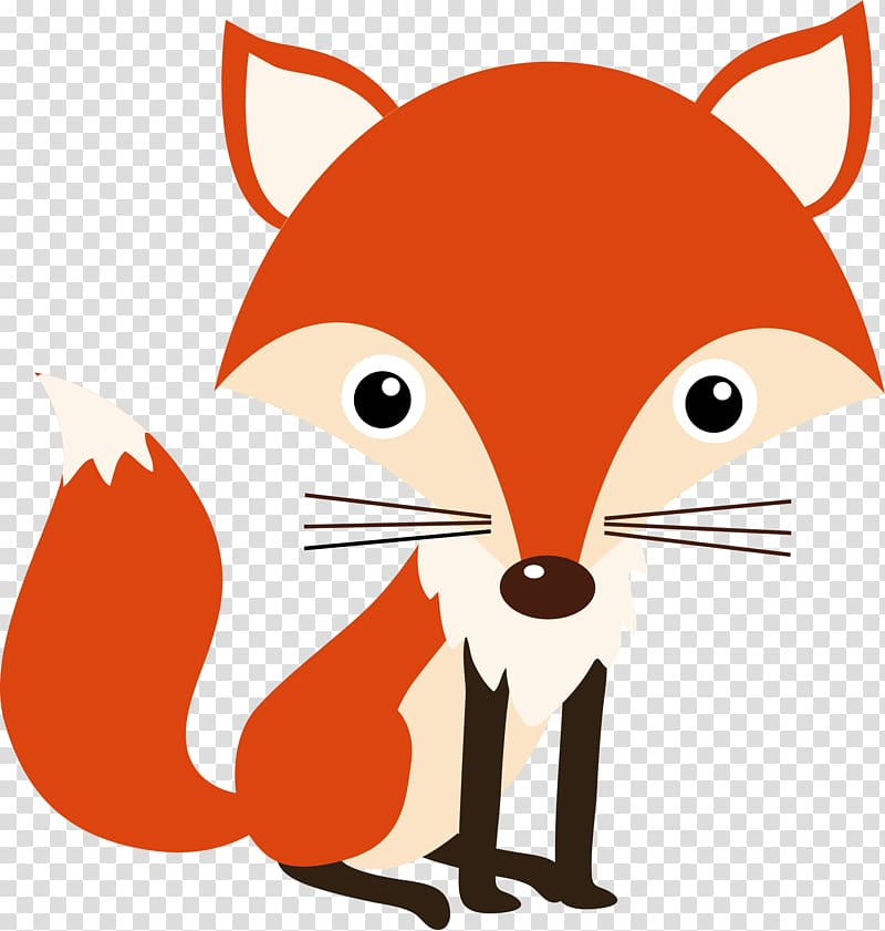 Red fox illustration, Woodland Nursery Idea Baby shower.