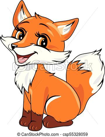 Cute baby fox.