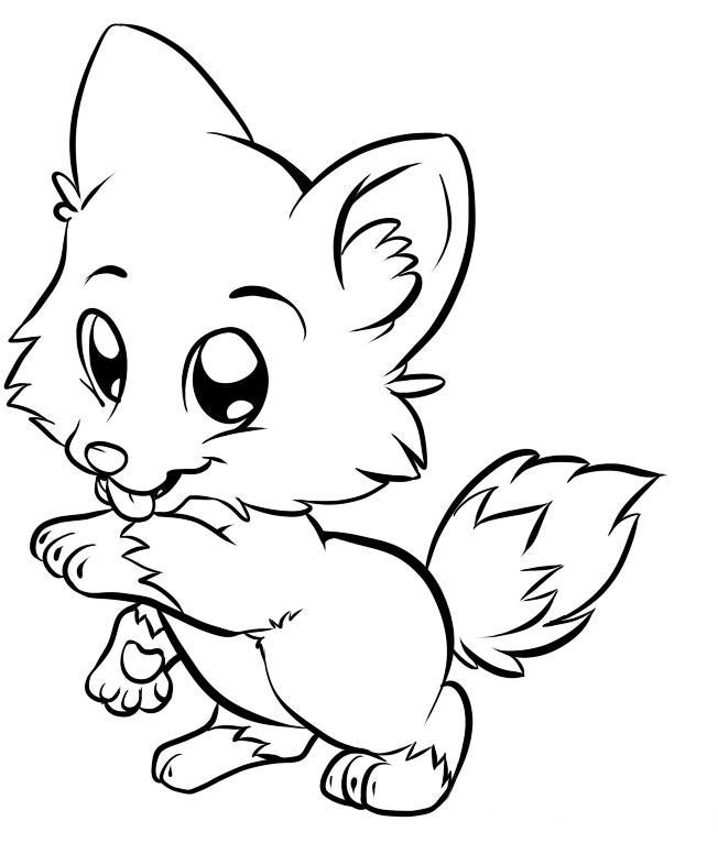 Free Cute Fox Clipart Black And White, Download Free Clip.