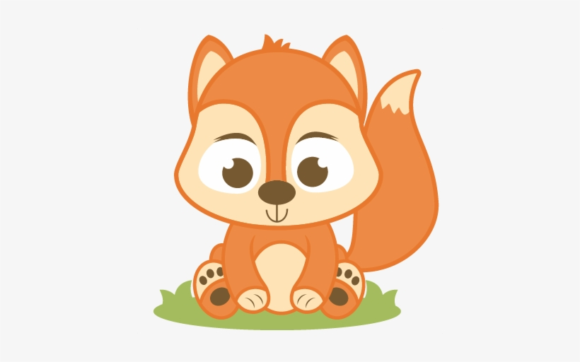 Red Squirrel Clipart Baby Squirrel.