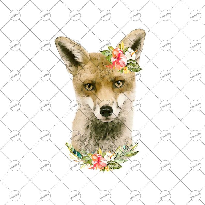 Sublimation Designs Download Baby Fox png, Baby Fox Clipart, Baby Animal  Clipart Instant Download Sublimation Downloads Watercolor.