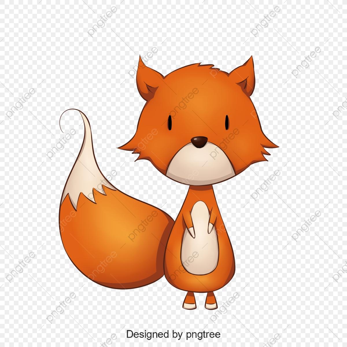 Little Fox, Fox Clipart, Baby Fox, Cute Fox PNG Transparent Clipart.
