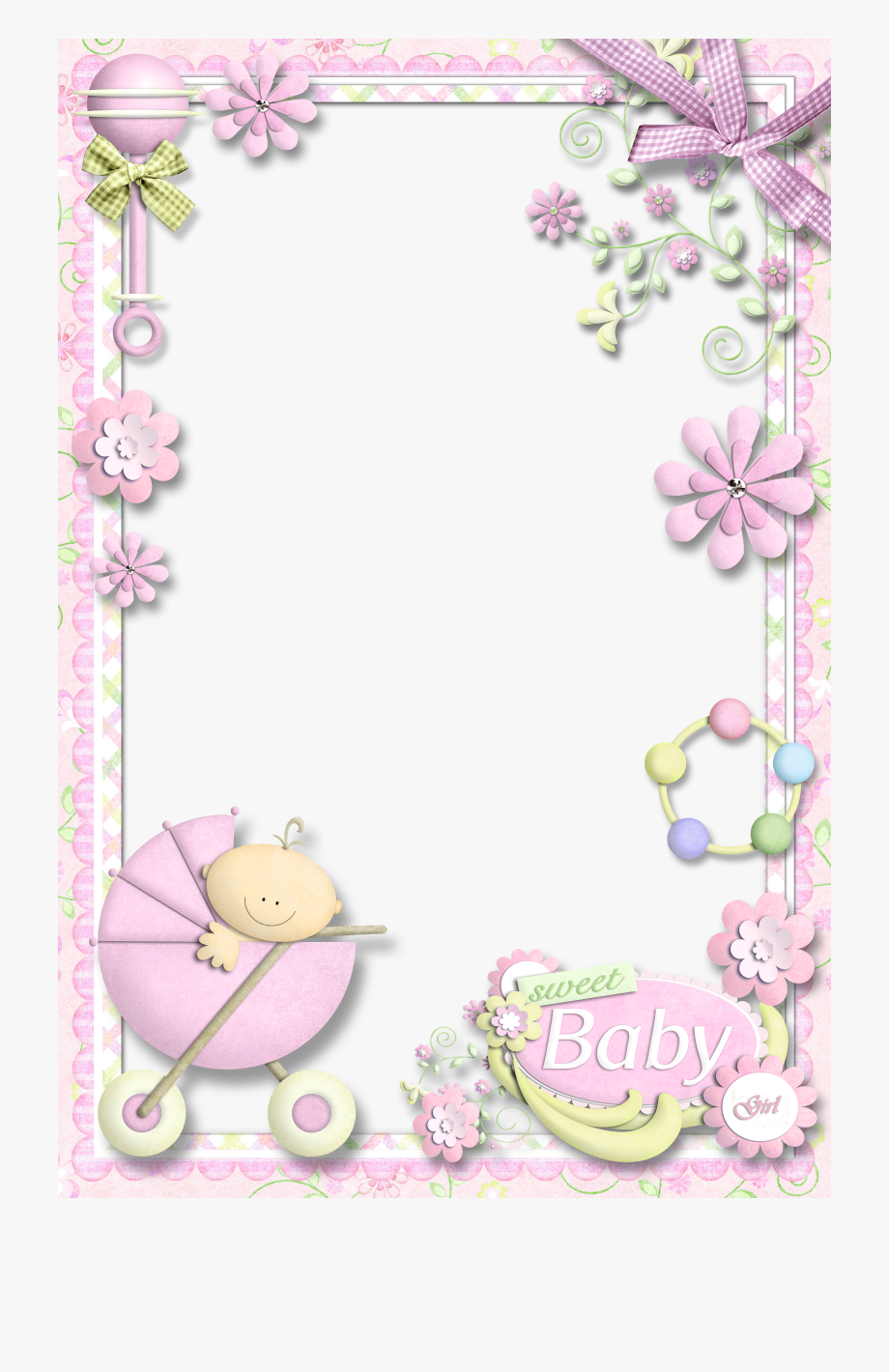 Clipart Frame Baby Girl.