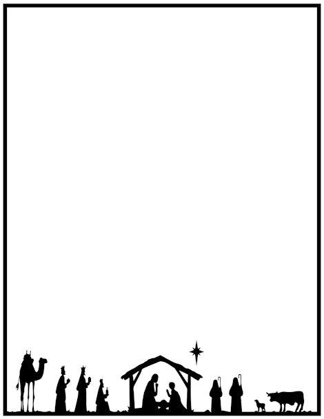 Religious Christmas Frame Clipart.
