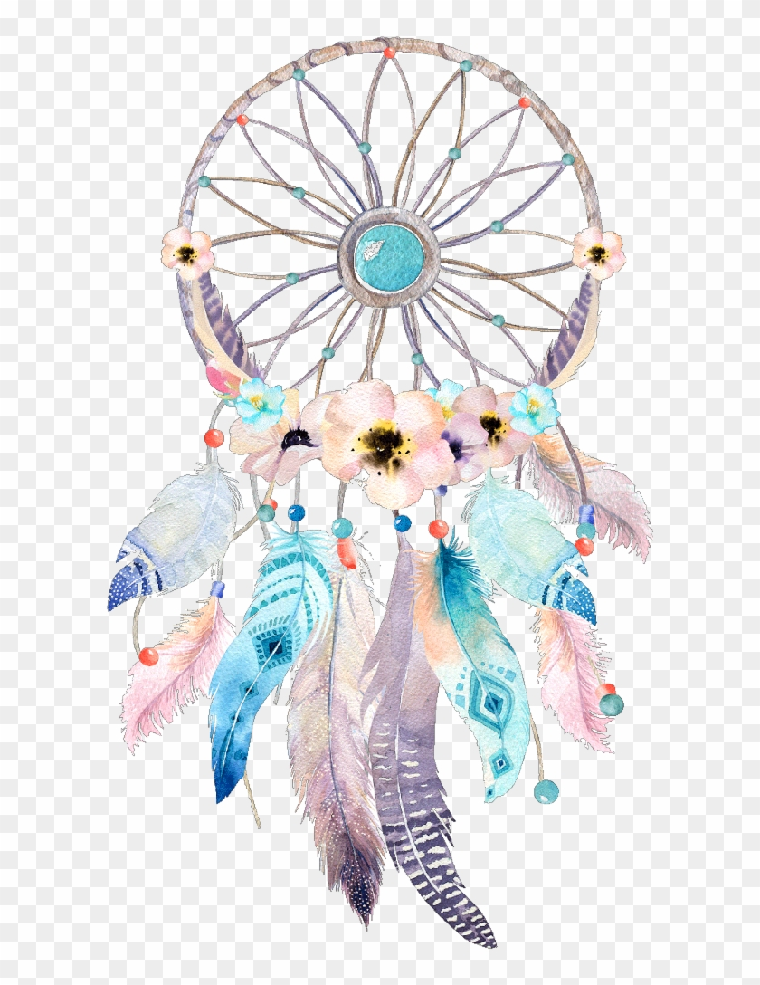 dreamcatcher #watercolor #flower #wonderland #fairytale.