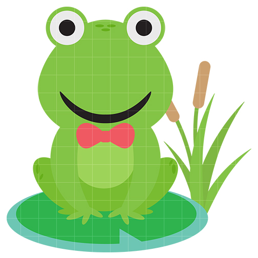 Cute baby frog clipart.