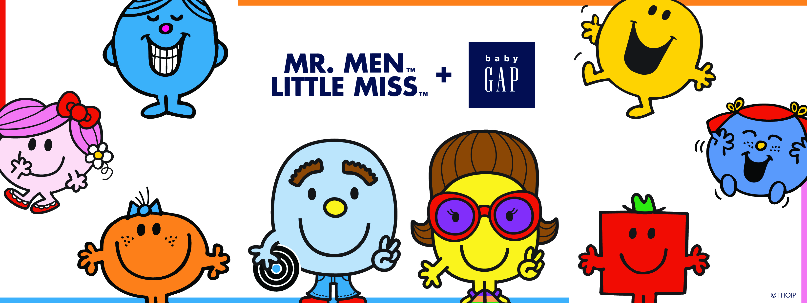 Mr Men & Little Miss collaboration with Baby Gap!.