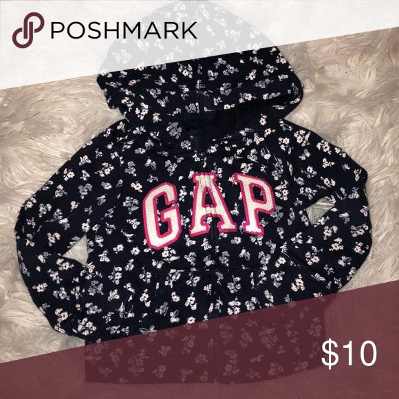 Baby Gap Logo Hoodie with zip XS 4T/5T Baby Gap logo floral Hoodie.