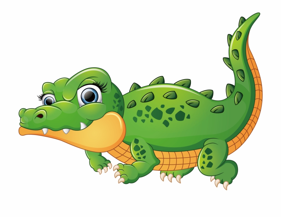 Alligator Vector Cute Alligator Illustration.