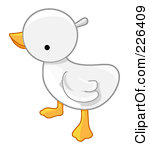 Baby goose clipart.