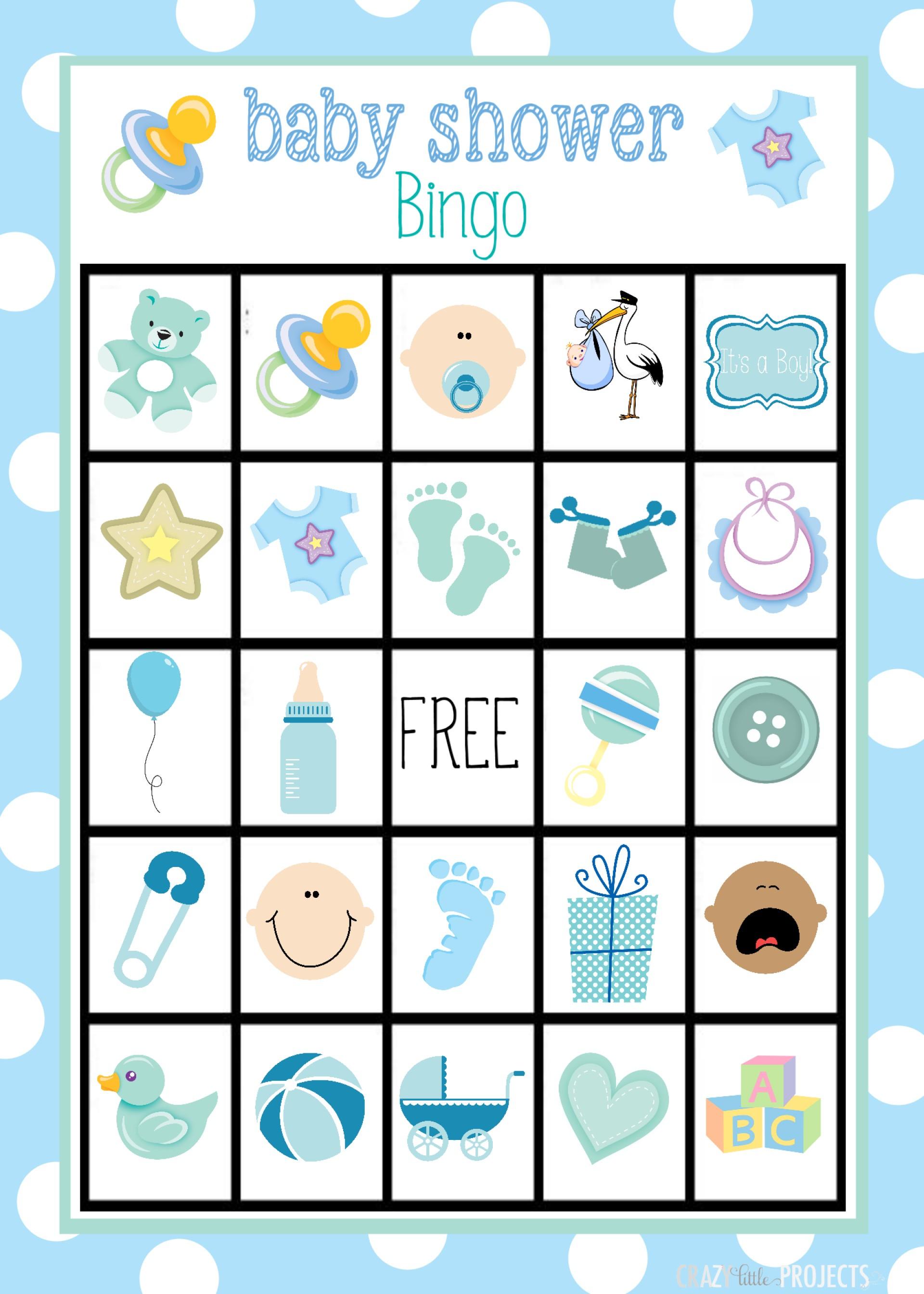 Breathtaking Baby Shower Bingo Template Ideas Blank Free Boy.