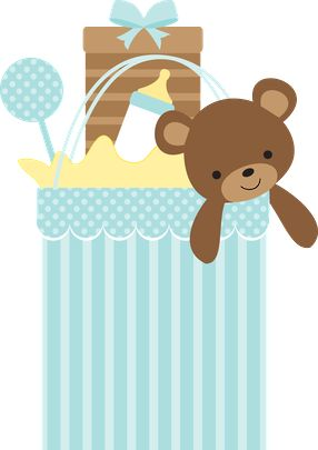 Baby Gift Box Clipart.