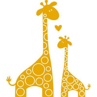 baby and mommy giraffe clipart.