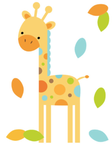 Giraffe Baby Shower Clipart.