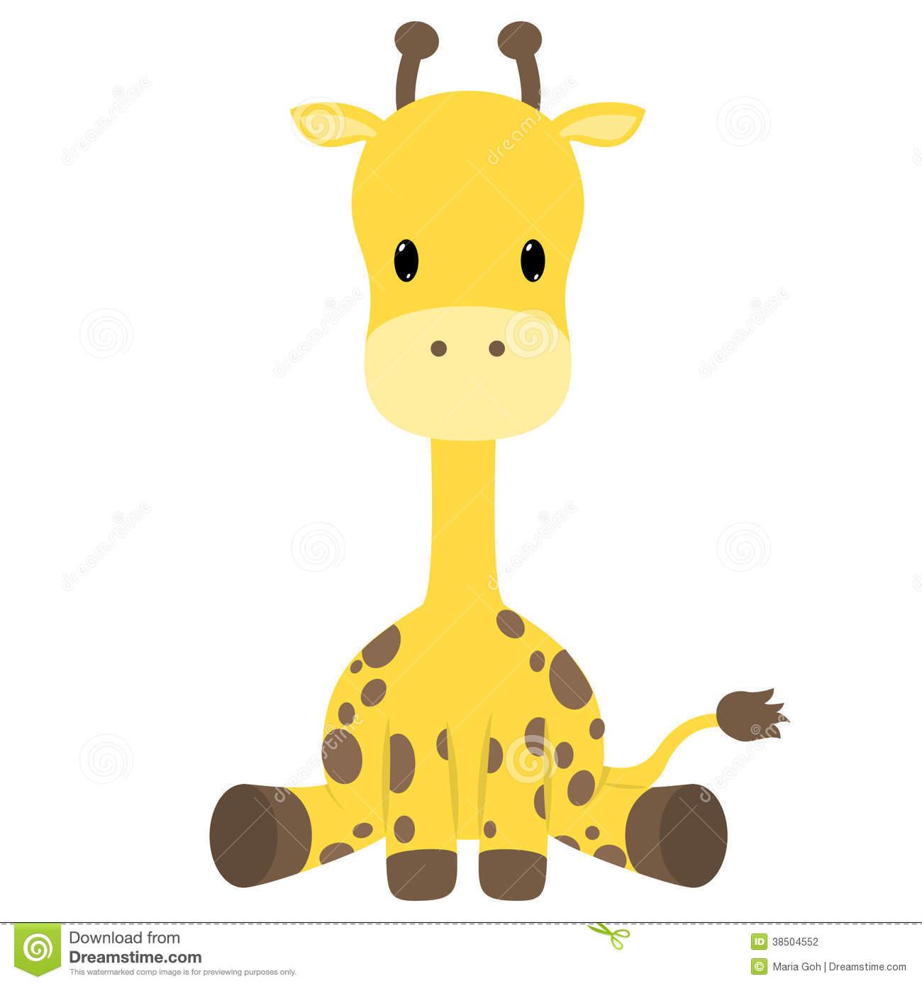 630 Baby Giraffe free clipart.