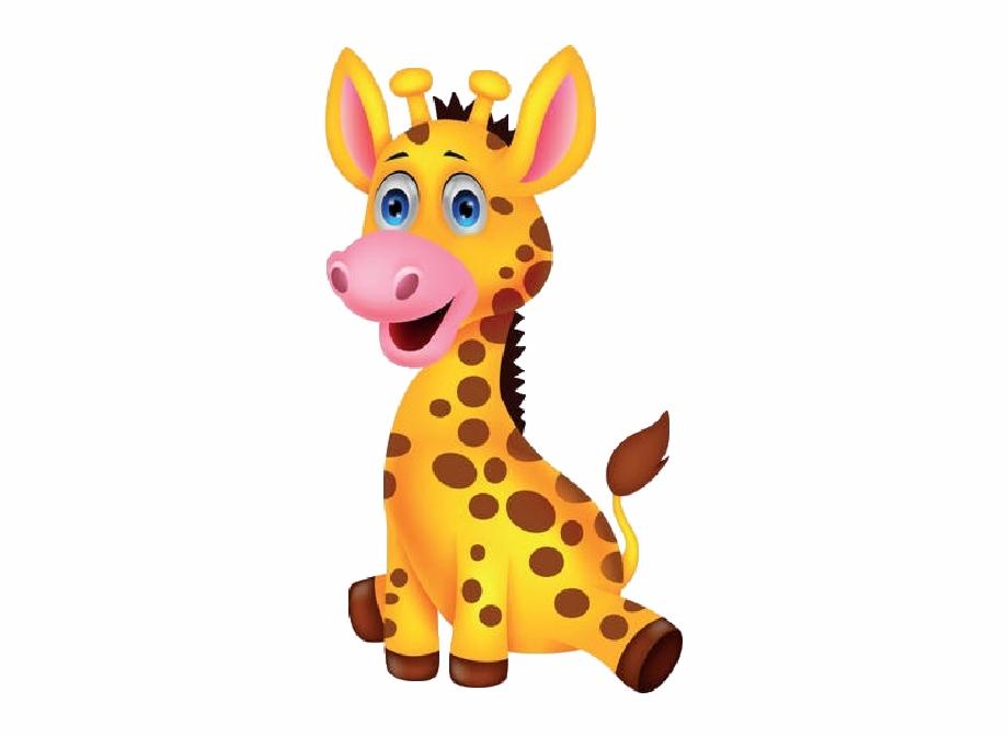 Download Free png Baby Giraffe Cartoon.