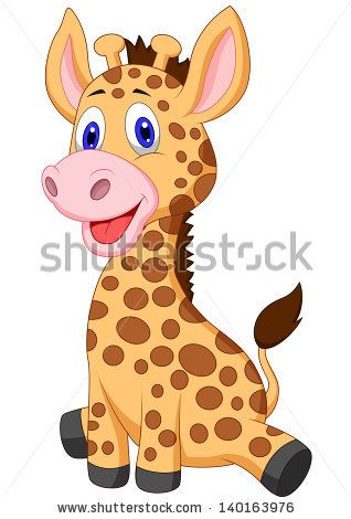 Cute baby giraffe carton.