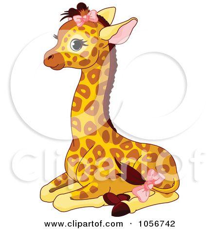 pink Cute Cartoon Giraffe Pictures.