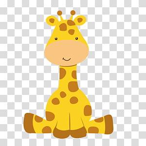 Two orange giraffe , Koala Infant Baby shower Illustration.