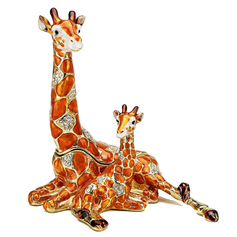 Buy Resting Giraffe and Baby Figurine Box Swarovski Crystals.