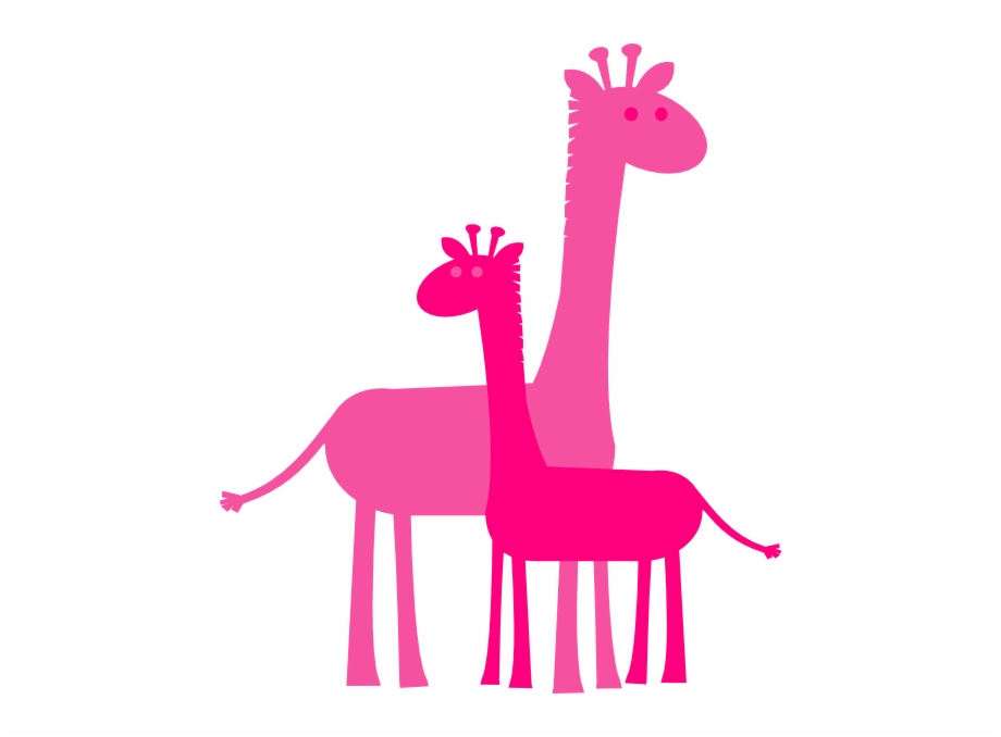 Momma And Baby Giraffe Clip Art.