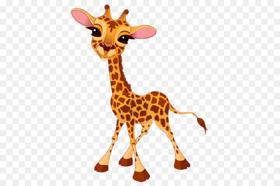 Baby Giraffes Cartoon Clip Art.