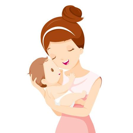 Baby And Mother Clipart.