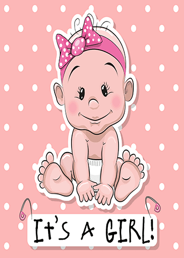 It\'s a Girl Announcement.