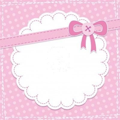 Baby girl announcement clipart.