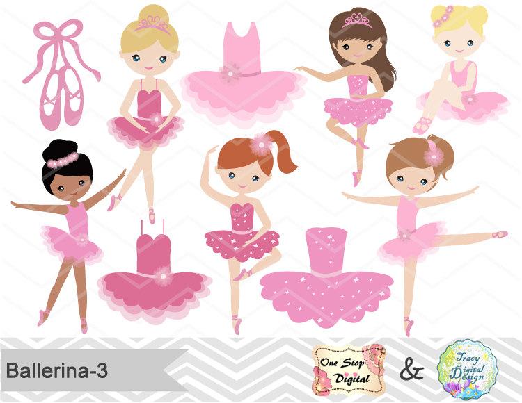 3057 Ballerina free clipart.