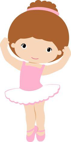 Little Girl Ballerina Clipart.