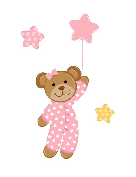 Baby Girl Teddy Bear Clipart.