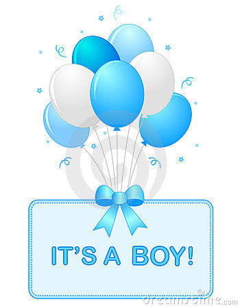 Baby Boy Announcement Clipart.
