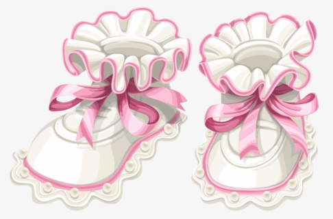 Free Baby Booties Clip Art with No Background.