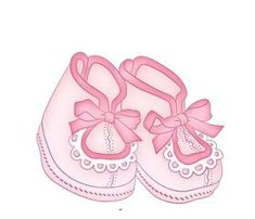 Baby Girl Booties Clipart.