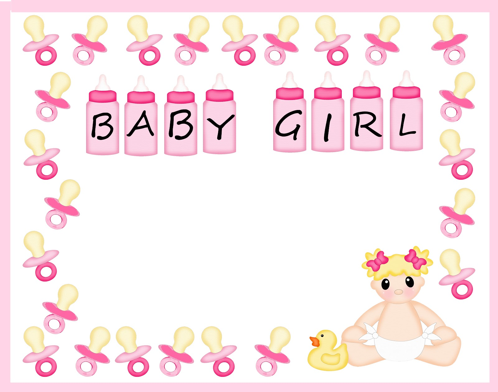 Free Baby Shower Border Templates.