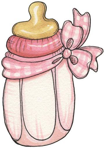 PINK BABY BOTTLE CLIP ART.