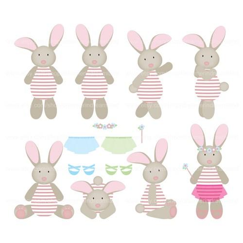 Girl Bunny Clipart.