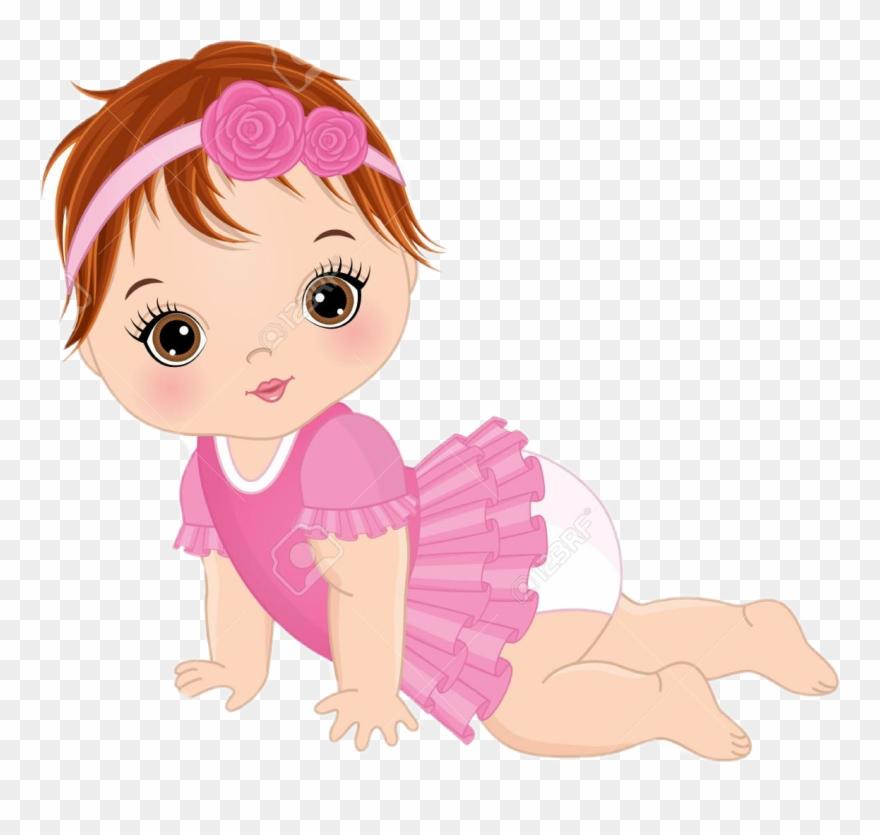 Cute Baby Girl Vector Clipart (#1284305).
