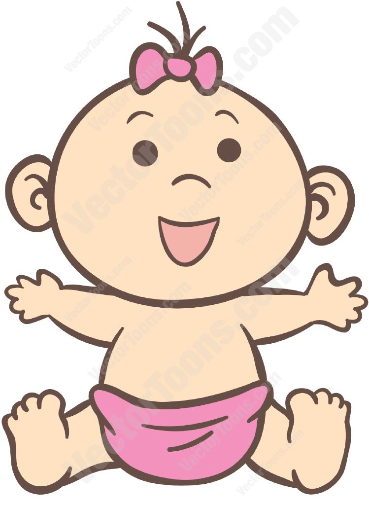 12 Baby Girl Vector Images.