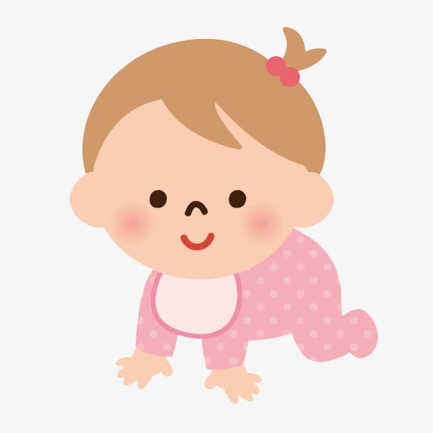 Little Baby Girl Clipart.