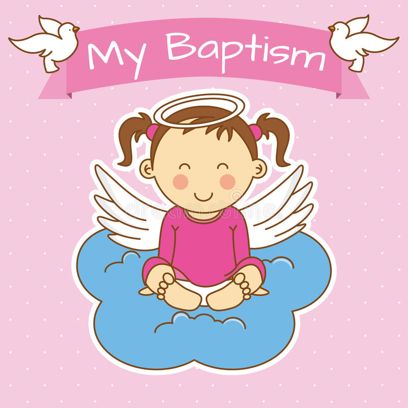 Baby Baptism Stock Illustrations.