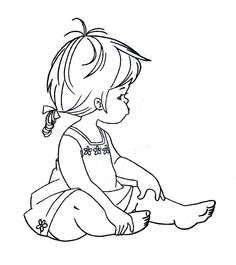 Baby Girl Clipart Black And White (97+ images in Collection) Page 2.