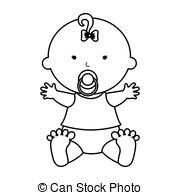 Baby girl clipart black and white 2 » Clipart Station.