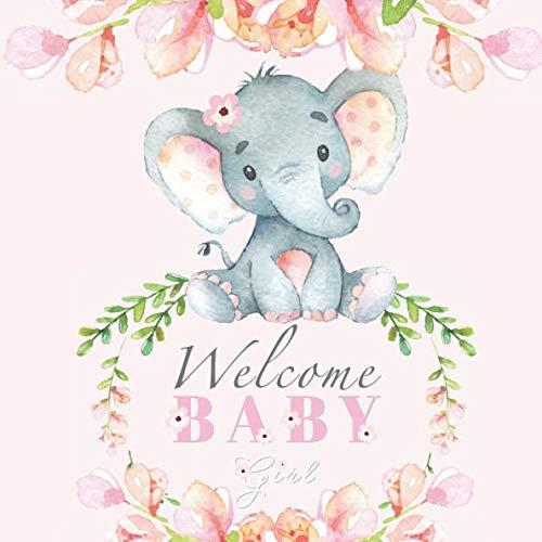 Details about Welcome Baby Girl: Elephant Baby Shower Guest Book, New, Free  Ship.