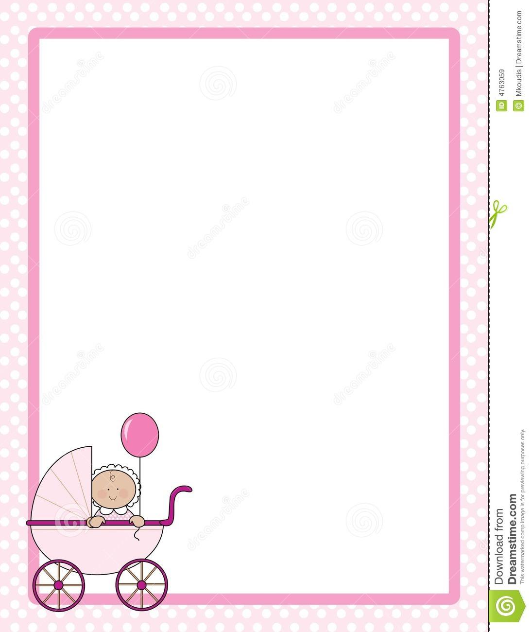 Baby Shower Clipart Girl Border.
